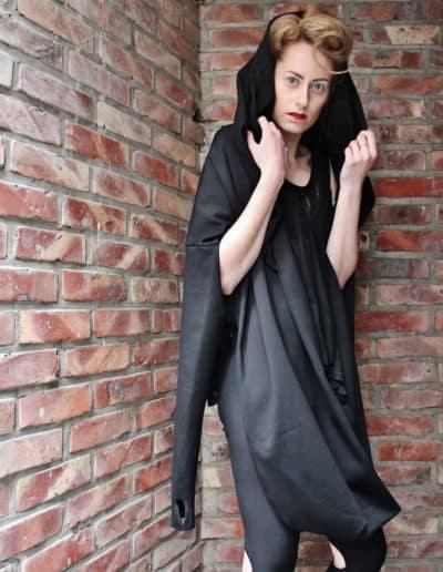 Hooded loop cardigan