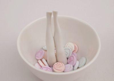 Legs bowl candy