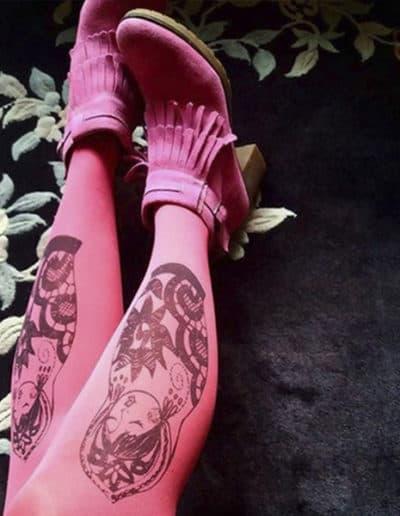 Rakkausmaatuska pink tights