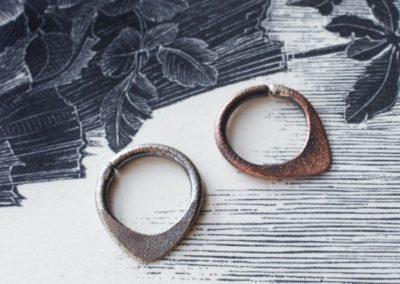 Teardrop septum rings