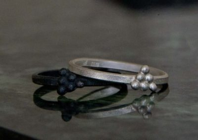 Triagle dots rings