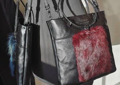 Bags w/fur details